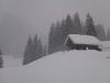 Stürmische Winterlandschaft - Haus