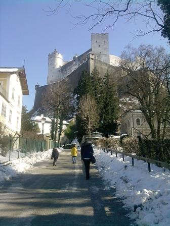 Weg zur Festung Hohensalzburg