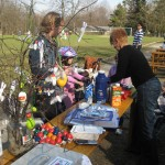 Der Verkauf von selbstbemalten Ostereirn