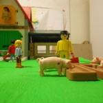 Kulisse für Trickfilm Bauernhof