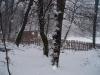 Stall Gehege Wald Winterstimmung