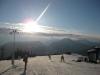 Am Berg viel Schnee und Sonne