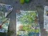 Rot - Grün - Gelb im Freien gemalt