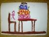 Zeichnung Kind Tisch Gebursttagstorte