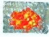 Bunte Kinderzeichnung - rot und gelb