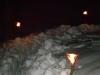 Abendliche Stimmung im Schnee