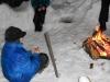 Kind - Lagerfeuer Schnee