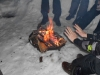 Lagerfeuer im Schnee