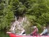 Blick vom Traunsee aufs Ufer